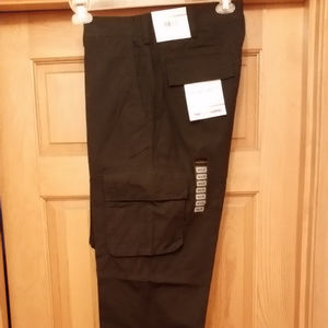 SLIM BLACK CARGO PANTS BY AXIST SIZE 36/32 NWT